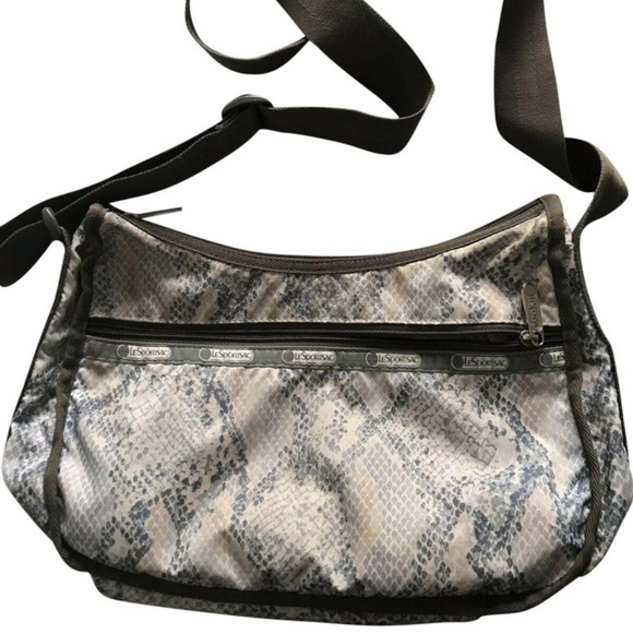 Lesportsac Handbags - LESPORTSAC Snake Print Nylon Crossbody